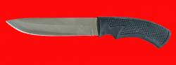 Нож Русский охотничий-4, клинок сталь 65Х13, рукоять пластмасса (цвет черный)