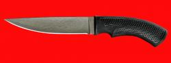 Нож Лис, клинок сталь Х12МФ, рукоять пластмасса (цвет черный)