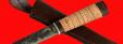 """Охотничий нож """"Северный-3"""", ручная ковка, клинок сталь У8, рукоять береста"""