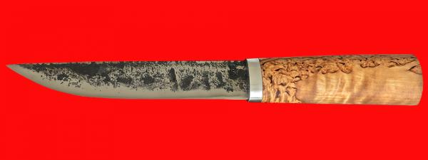 """Охотничий нож """"Скиталец"""", ручная ковка, клинок сталь У8, рукоять карельская берёза"""
