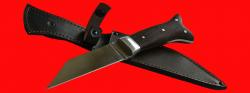 Нож Скрамасакс-1, цельнометаллический, клинок сталь У8, рукоять венге
