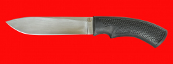 Нож Русский охотничий, клинок сталь 95Х18, рукоять пластмасса (цвет черный)