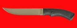Нож Советский охотничий, клинок сталь 95Х18, рукоять пластмасса (цвет черный)