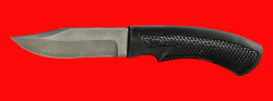 Нож Крепыш-2, клинок сталь Х12МФ, рукоять пластмасса (цвет черный)
