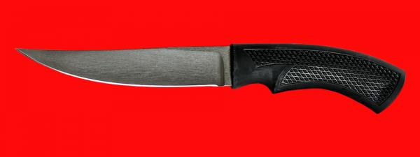 """Нож """"Лис-2"""", клинок сталь Х12МФ, рукоять пластмасса (цвет черный)"""