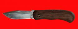 Складной нож Толстяк, беспружинный, клинок сталь 95Х18, рукоять бубинга