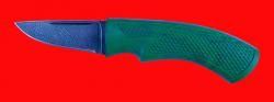 Нож Клык-2, клинок дамасская сталь, рукоять пластмасса (цвет зелёный)