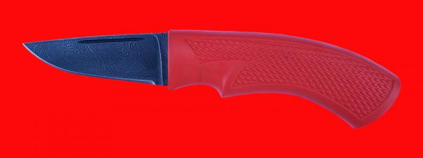 """Нож """"Клык-2"""", клинок дамасская сталь, рукоять пластмасса (цвет оранжевый)"""