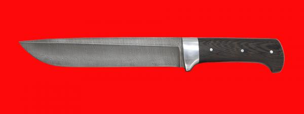 """Нож """"Полярник"""", цельнометаллический, клинок дамасская сталь, рукоять венге"""