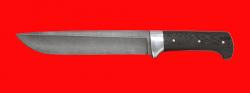 Нож Полярник, цельнометаллический, клинок дамасская сталь, рукоять венге