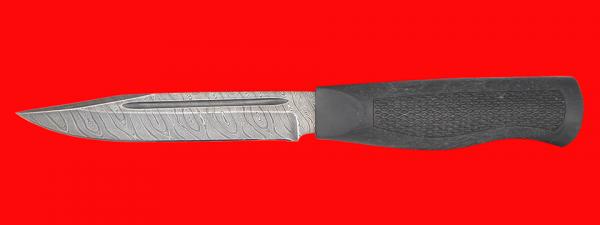 """Нож """"Разведчик-5"""", клинок дамасская сталь, рукоять пластмасса (цвет черный)"""