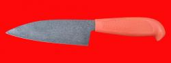 """Нож """"Кухонный большой-2"""", клинок сталь Х12МФ, рукоять пластмасса (цвет оранжевый)"""