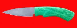 Нож Кухонный малый-1, клинок сталь Х12МФ, рукоять пластмасса (цвет зелёный)