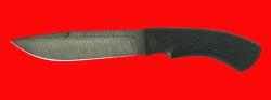 Нож Шашлычный, клинок дамасская сталь, рукоять пластмасса (цвет черный)