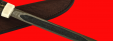 Якутский - Эвенкийский нож 010, ручная ковка, клинок сталь У8, заточка линза, рукоять стабилизированная карельская береза (цвет черный)
