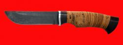 Нож Сайга, клинок сталь Х12МФ, рукоять береста