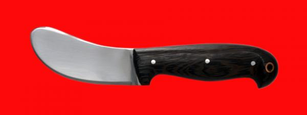 """Нож """"Бобровый-1"""", цельнометаллический, клинок сталь У8, рукоять венге, с отверстием под темляк (ремешок)"""