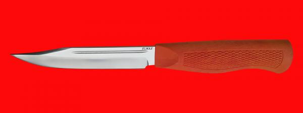 """Нож """"Разведчик-5"""", клинок порошковая сталь ELMAX, рукоять пластмасса (цвет оранжевый)"""