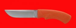 Нож Грибник, клинок порошковая сталь ELMAX, рукоять пластмасса (цвет оранжевый)