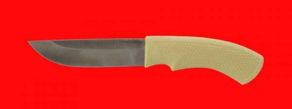 """Нож """"Бурундук-3"""", клинок порошковая сталь Vanadis 10, рукоять пластмасса (цвет белый)"""