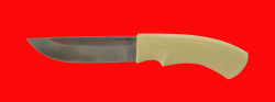 Нож Бурундук-3, клинок порошковая сталь Vanadis 10, рукоять пластмасса (цвет белый)