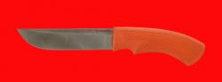 Нож Грибник, клинок порошковая сталь Vanadis 10, рукоять пластмасса (цвет оранжевый)