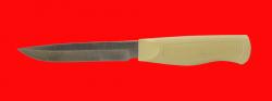 Нож Финка-110, клинок порошковая сталь Vanadis 10, рукоять пластмасса (цвет белый)
