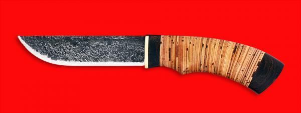 """Охотничий нож """"Грибник"""" ручная ковка, клинок сталь У8, рукоять береста"""