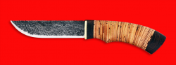 Охотничий нож Грибник ручная ковка, клинок сталь У8, рукоять береста