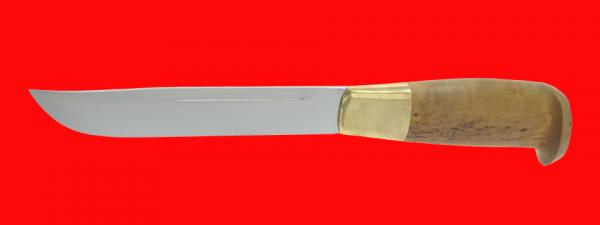 Финка Рысь охотничья, клинок сталь У8, рукоять карельская береза