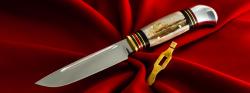 """Разборный нож """"P.Holmberg Eskilstuna"""" (прообраз финки НКВД), клинок кованый сталь Х12МФ, рукоять лосиный рог"""