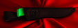 Финка-041, клинок сталь Х12МФ, рукоять резинопластик (цвет зелёный)