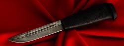 Финка-041, клинок дамасская сталь, рукоять резинопластик (цвет черный)