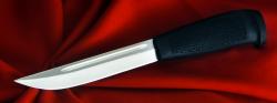 Финка-043, клинок сталь У8, рукоять резинопластик (цвет черный)
