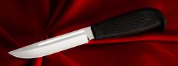 Нож Финка-108, клинок сталь 95Х18, рукоять резинопластик (цвет черный)