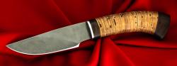 Охотничий нож Рысь-2, клинок сталь Х12МФ, рукоять береста