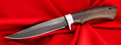 """Булатный нож """"Багира"""", клинок тигельный булат, рукоять венге, отверстие под темляк"""