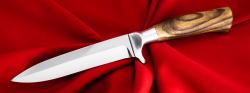 Нож Егерский, клинок сталь У8, рукоять орех