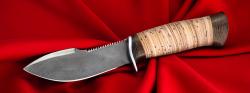 Нож Сплав, клинок сталь Х12МФ, рукоять береста