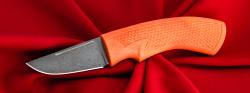 Нож Клык-2, клинок сталь Х12МФ, рукоять резинопластик (цвет оранжевый)