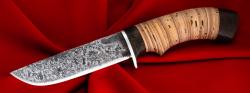 Охотничий нож Грибник-2 ручная ковка, клинок сталь У8, рукоять береста