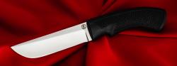 Нож Грибник, клинок порошковая сталь ELMAX, рукоять пластмасса (цвет черный)