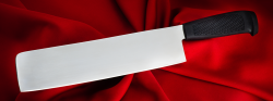 Тяпка-нож №2, клинок сталь 95Х18, рукоять пластмасса (цвет черный)
