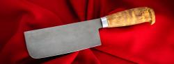 Тяпка-нож, клинок сталь Х12МФ, рукоять карельская берёза