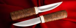 Якутский нож малый 019, клинок сталь Х12МФ, заточка линза, рукоять карельская берёза