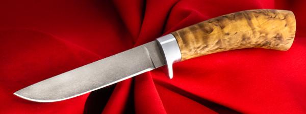 """Охотничий нож """"Абориген"""", клинок сталь Х12МФ, рукоять карельская береза"""
