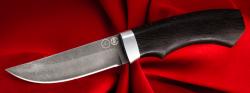 Охотничий нож Бурундук, клинок тигельный булат, рукоять венге