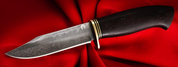 """Нож """"Гюрза"""", клинок тигельный булат, рукоять венге, латунь"""