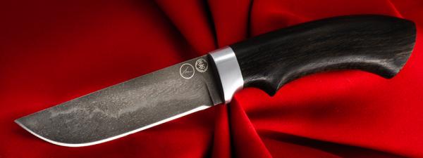 "Булатный нож ""Грибник"", клинок тигельный булат, рукоять венге"