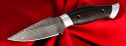 """Нож """"Скорпион"""", цельнометаллический, клинок дамасская сталь, рукоять венге"""